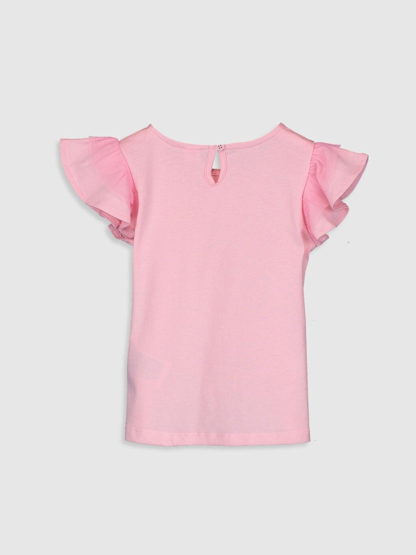 %100 Pamuk Standart Baskılı Kısa Kol Tişört Bisiklet Yaka Kız Bebek Baskılı Tişört