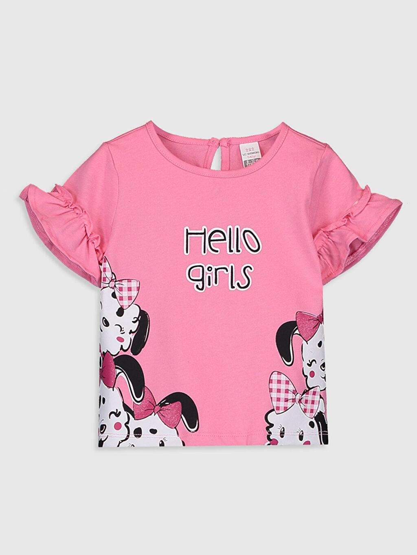 Pembe Kız Bebek Baskılı Pamuklu Tişört 0SB755Z1 LC Waikiki
