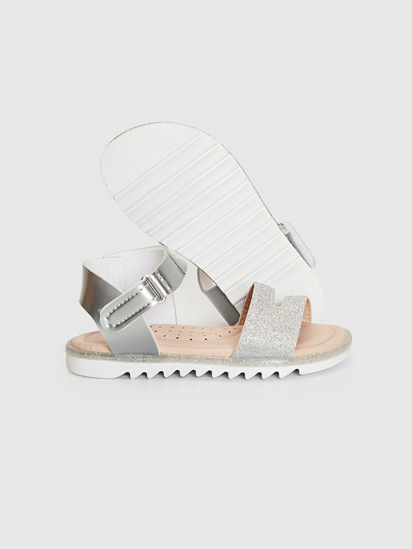 Kız Bebek Kız Bebek Sim Detaylı Cırt Cırtlı Sandalet