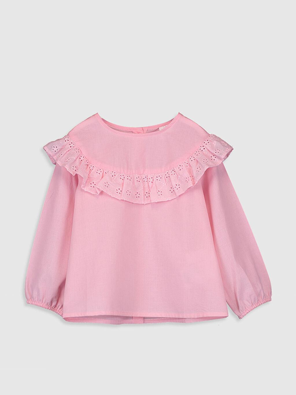 Pembe Kız Bebek Poplin Bluz 0SC265Z1 LC Waikiki