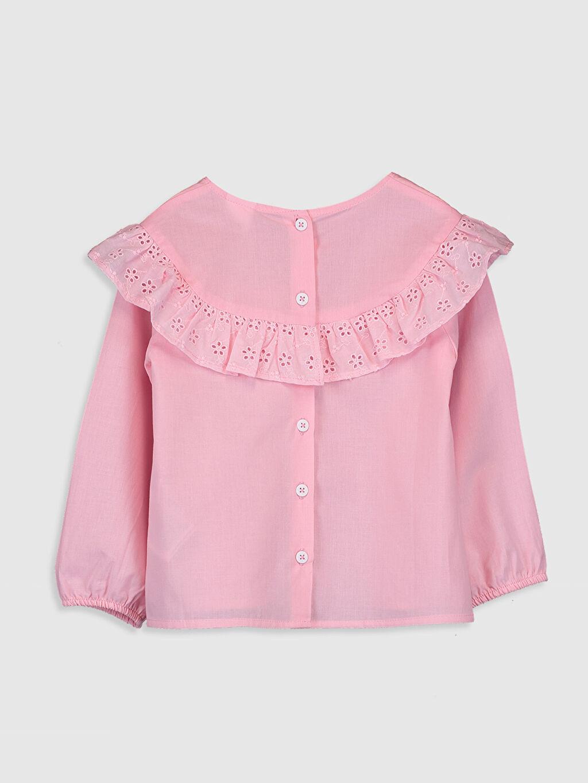 %100 Pamuk Standart Düz Uzun Kol Bluz Kız Bebek Poplin Bluz