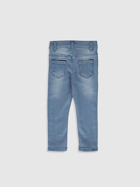 %90 Pamuk %8 Polyester %2 Elastan Dar Kız Bebek Skınny Fıt Jean Pantolon