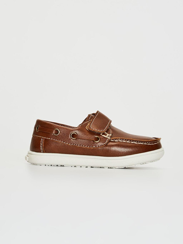 Kahverengi Erkek Bebek Cırt Cırtlı Klasik Ayakkabı 0SC379Z1 LC Waikiki