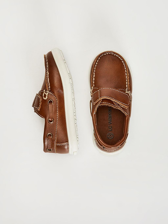 Diğer malzeme (pvc) Işıksız Klasik Ayakkabı Cırt Cırt Erkek Bebek Cırt Cırtlı Klasik Ayakkabı