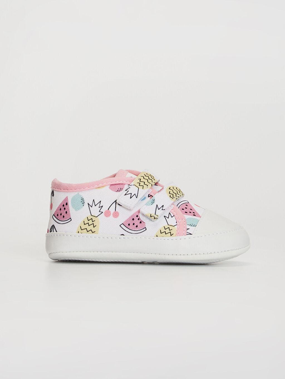 Pembe Kız Bebek Cırt Cırtlı Yürüme Öncesi Ayakkabı 0SC837Z1 LC Waikiki