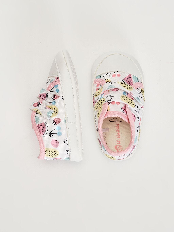 Işıksız Pamuk Astar Yürümeyen Cırt Cırt Kız Bebek Cırt Cırtlı Yürüme Öncesi Ayakkabı