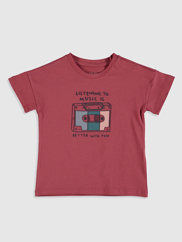 Kırmızı Erkek Bebek Pamuklu Tişört 0SC966Z1 LC Waikiki