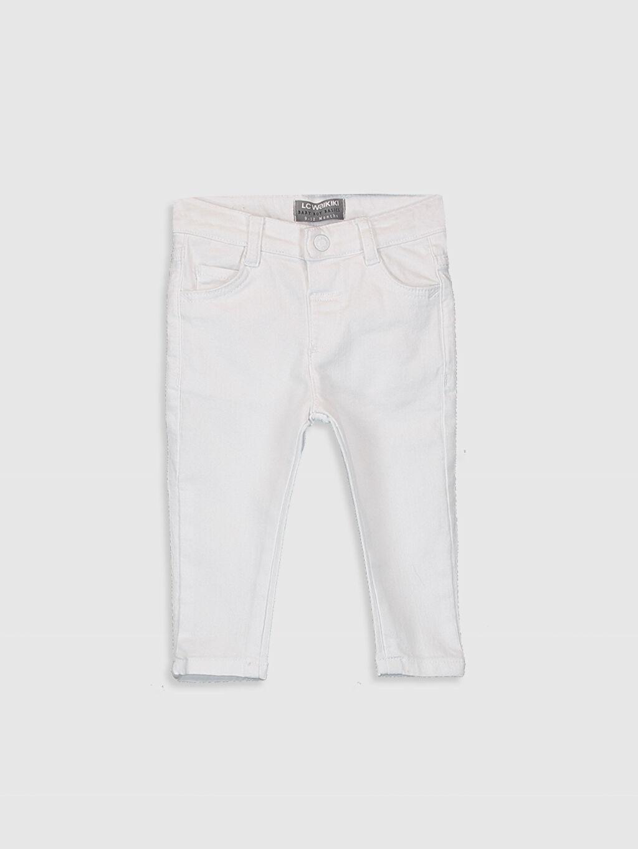 Beyaz Erkek Bebek Skınny Gabardin Pantolon 0SD844Z1 LC Waikiki