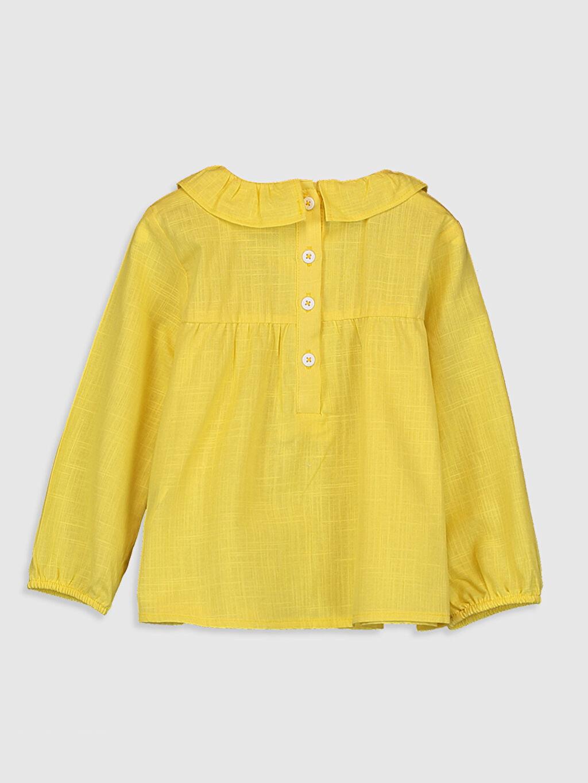 %100 Pamuk Standart Düz Uzun Kol Bluz Kız Bebek Pamuklu Bluz