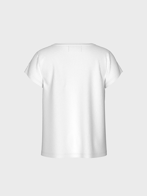 %100 Pamuk Standart Baskılı Kısa Kol Tişört Bisiklet Yaka Kız Bebek Yazı Baskılı Pamuklu Tişört