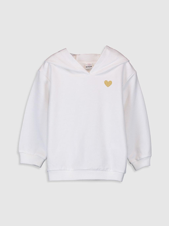 Ekru Kız Bebek Kapüşonlu Sweatshirt 0SE171Z1 LC Waikiki