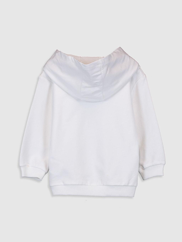 %100 Pamuk Günlük Uzun Kol Düz A Kesim Kapüşon Yaka Üç İplik Sweatshirt Standart Kız Bebek Kapüşonlu Sweatshirt