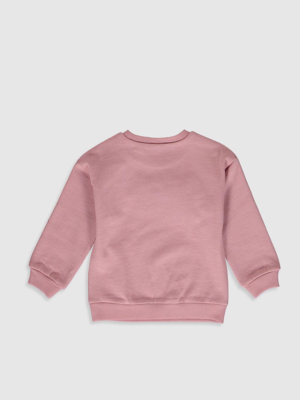 %100 Pamuk Sweatshirt Standart Baskılı Minnie Mouse Bisiklet Yaka Günlük Üç İplik İçi Tüylü Uzun Kol Standart Kız Bebek Minnie Mouse Baskılı Sweatshirt