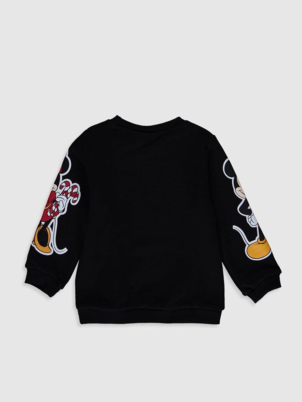 %100 Pamuk Sweatshirt Standart Baskılı Bisiklet Yaka Günlük Üç İplik Uzun Kol Standart Kız Bebek Mickey ve Minnie Mouse Baskılı Sweatshirt