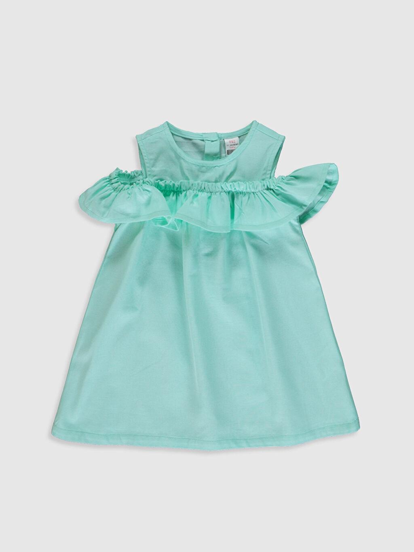 Turkuaz Kız Bebek Pamuklu Elbise 0SF393Z1 LC Waikiki