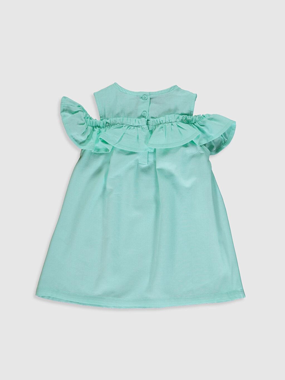 %100 Pamuk Düz Gabardin Standart Günlük Elbise Kız Bebek Pamuklu Elbise