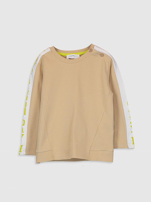 Bej Erkek Bebek Basic Sweatshirt 0SF465Z1 LC Waikiki