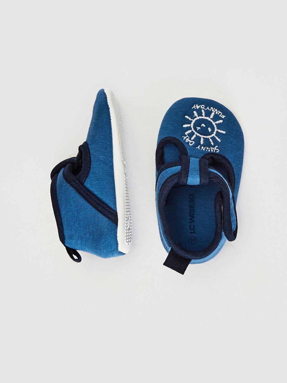 Mavi Erkek Bebek Cırt Cırtlı Bez Yürüme Öncesi Ayakkabı 0SF808Z1 LC Waikiki