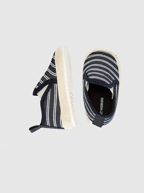 %0 Tekstil malzemeleri (%100 pamuk)  Erkek Bebek Espadril Bez Yürüme Öncesi Ayakkabı