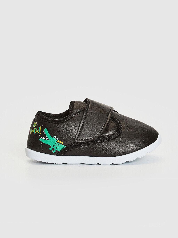 Siyah Erkek Bebek Cırt Cırtlı Günlük Spor Ayakkabı 0SF811Z1 LC Waikiki