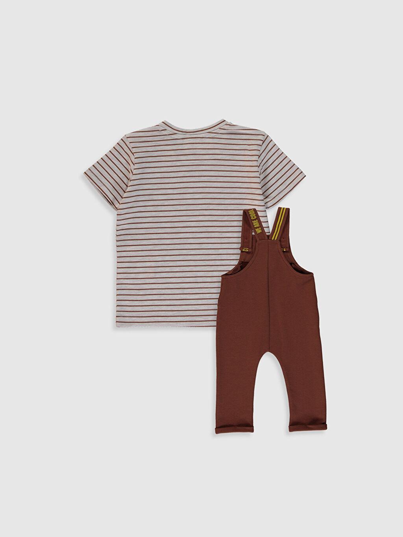 %60 Pamuk %39 Polyester %1 Elastan %48 Pamuk %52 Polyester Orta Kalınlık Düz Takım Ottoman Aksesuarsız Standart Günlük Erkek Bebek Tişört ve Salopet