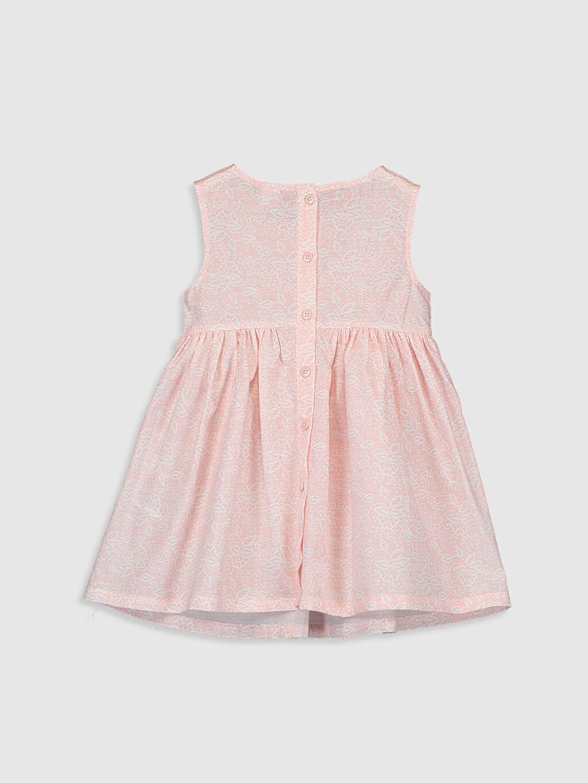 %100 Pamuk Baskılı Kız Bebek Baskılı Elbise
