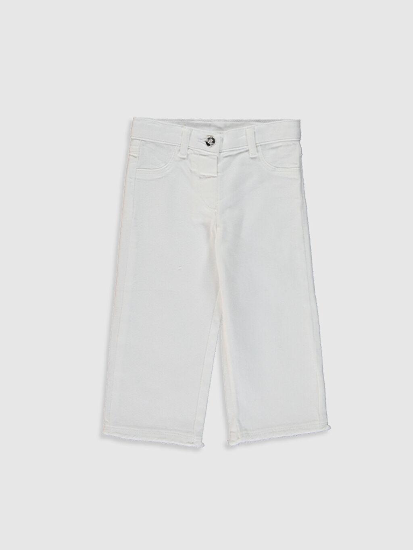 Beyaz Kız Bebek Pantolon 0SQ148Z1 LC Waikiki