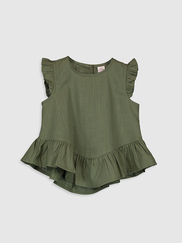 Haki Kız Bebek Basic Poplin Bluz 0SQ247Z1 LC Waikiki