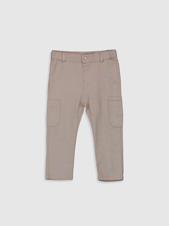 Bej Erkek Bebek Pamuklu Pantolon 0SQ622Z1 LC Waikiki