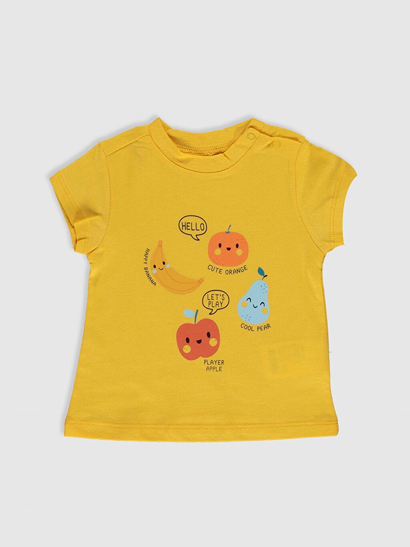 Erkek Bebek Erkek Bebek Pamuklu Baskılı Tişört 2'li
