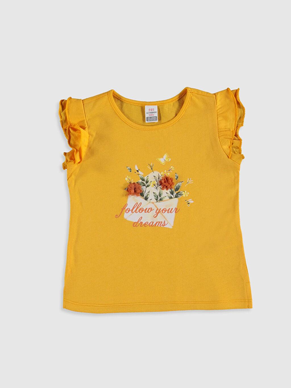 Turuncu Kız Bebek Baskılı Tişört 0SQ948Z1 LC Waikiki
