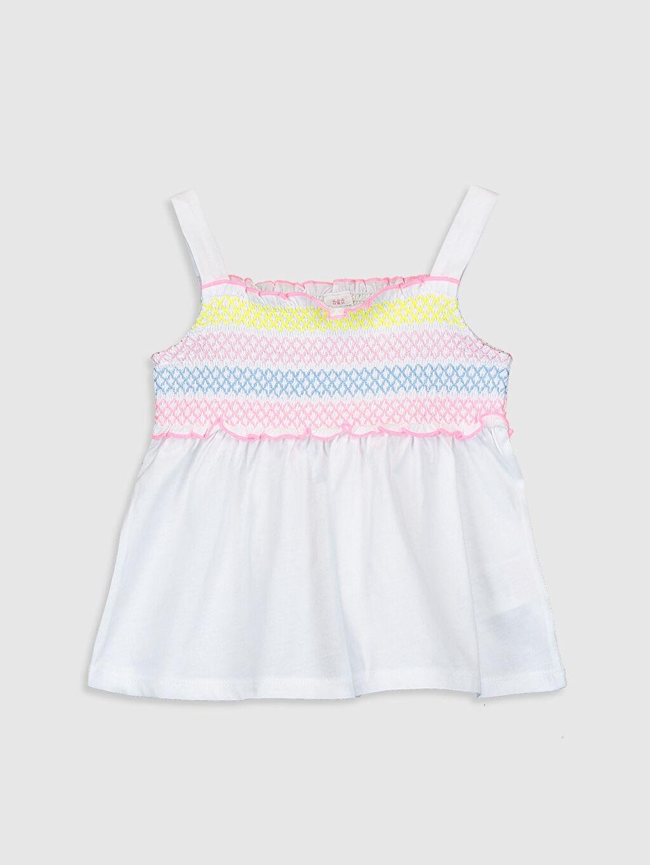Beyaz Kız Bebek Desenli Atlet 0SR173Z1 LC Waikiki