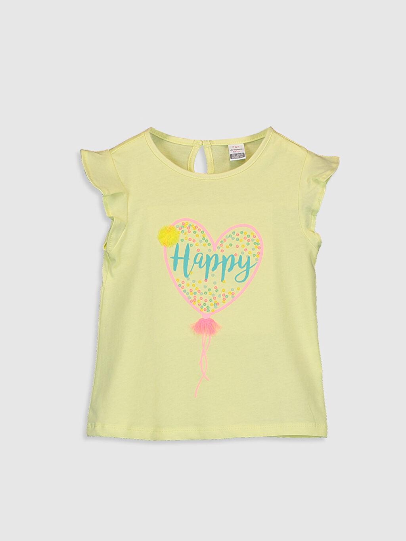 Sarı Kız Bebek Baskılı Pamuklu Tişört  0SR178Z1 LC Waikiki