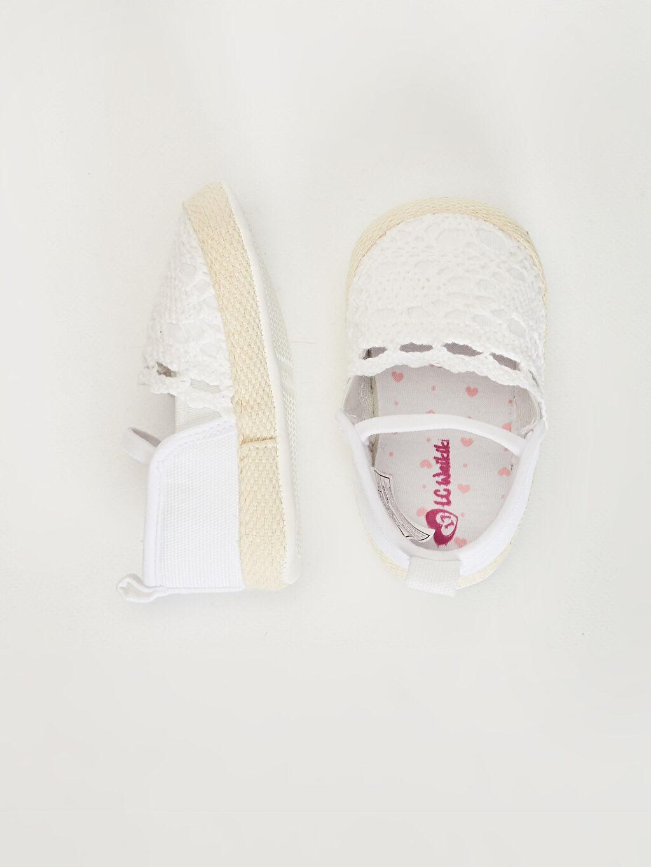 Kız Bebek Kız Bebek Dantel Detaylı Espadril Yürüme Öncesi Ayakkabı
