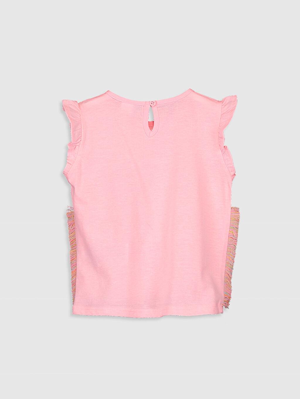 %50 Pamuk %50 Polyester A Kesim Süprem Standart Baskılı Tişört Bisiklet Yaka Günlük Kısa Kol Kız Bebek Unicorn Desenli Tişört