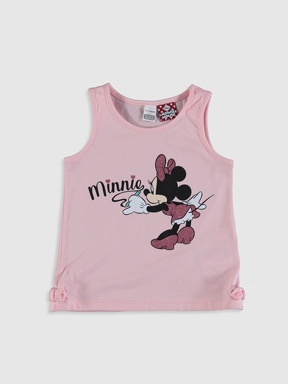Pembe Kız Bebek Minnie Mouse Baskılı Atlet 0SR641Z1 LC Waikiki
