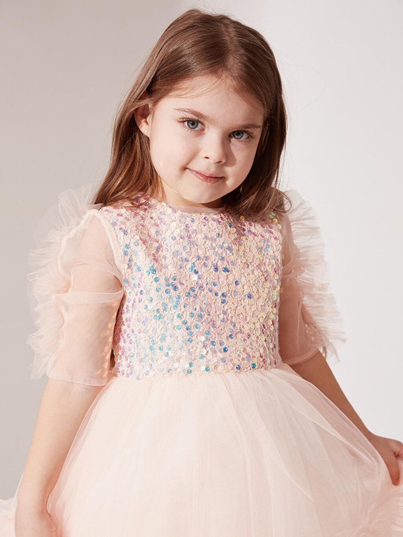 Sarı Daisy Girl Kız Bebek Payetli Abiye Elbise 0SS846Z4 LC Waikiki