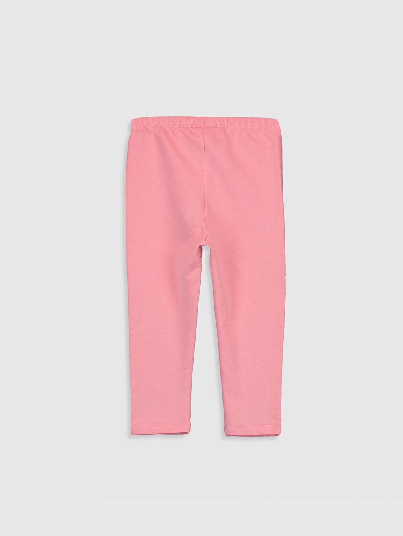 %80 Pamuk %20 Polyester Normal Bel Standart Kız Bebek Basic Pantolon