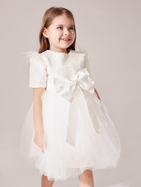 Kız Bebek Daisy Girl Kız Bebek Desenli Abiye Elbise
