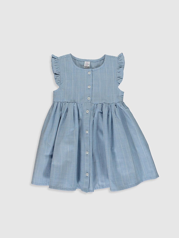 Mavi Kız Bebek Çizgili Poplin Elbise 0SS955Z1 LC Waikiki
