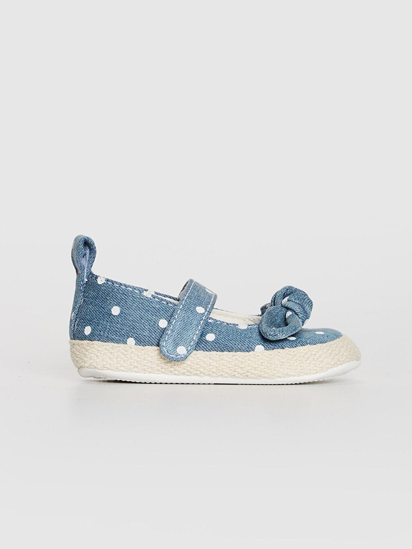 Pembe Kız Bebek Cırt Cırtlı Fiyonk Detaylı Yürüme Öncesi Ayakkabı 0ST093Z1 LC Waikiki
