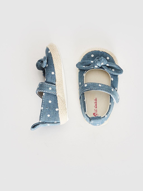 Cırt Cırt Işıksız Pamuk Astar Yürümeyen Kız Bebek Cırt Cırtlı Fiyonk Detaylı Yürüme Öncesi Ayakkabı