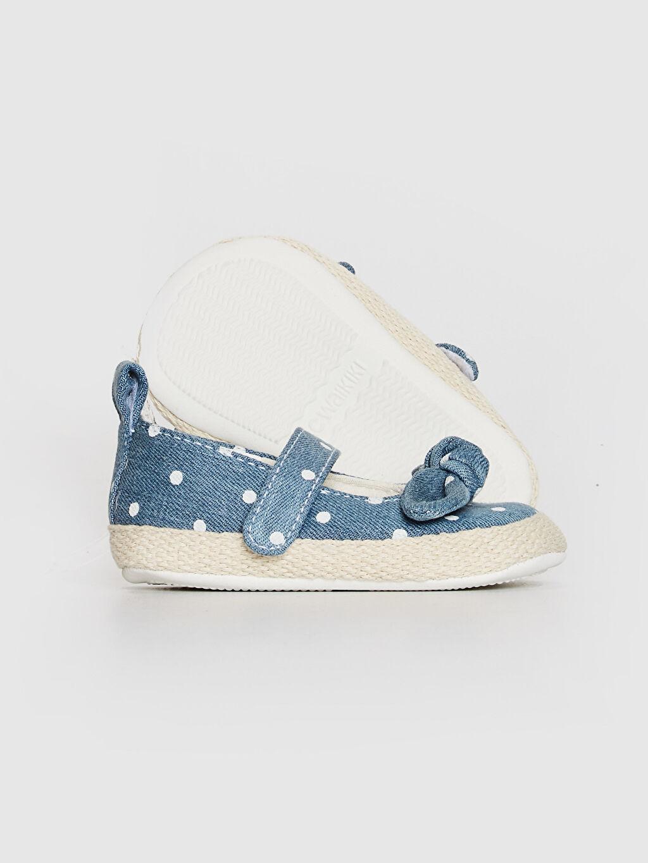 Kız Bebek Kız Bebek Cırt Cırtlı Fiyonk Detaylı Yürüme Öncesi Ayakkabı