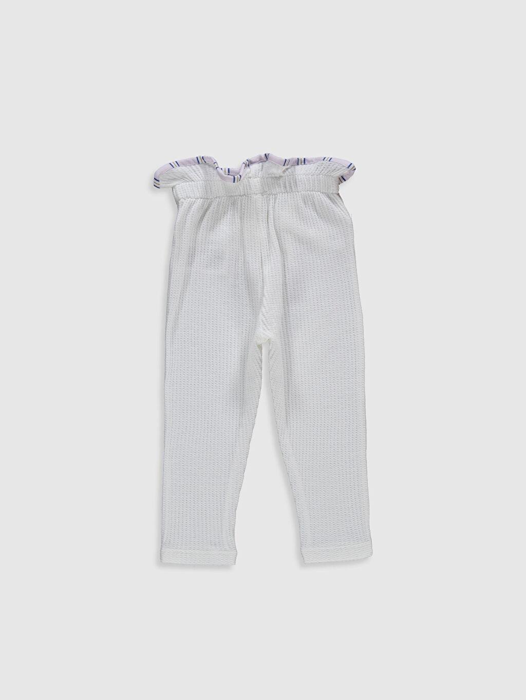 %100 Pamuk Tayt Standart İnce Düz Standart Suprem Şık Kız Bebek Pantolon