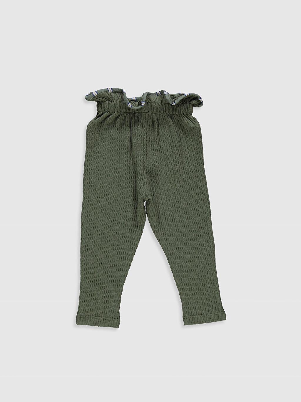 %100 Pamuk Tayt Standart Düz Standart Suprem Şık Orta Kalınlık Kız Bebek Pantolon