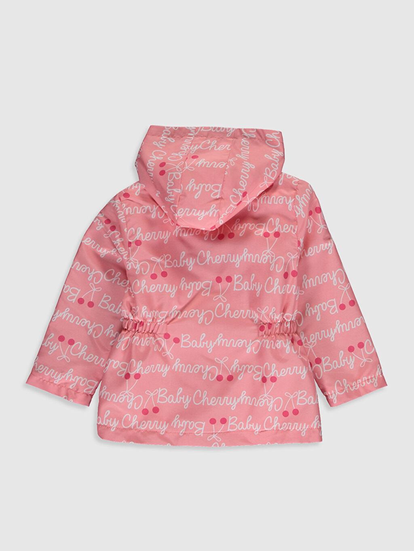 %100 Polyester %100 Pamuk İnce Mont Kız Bebek Kapüşonlu Desenli Mont