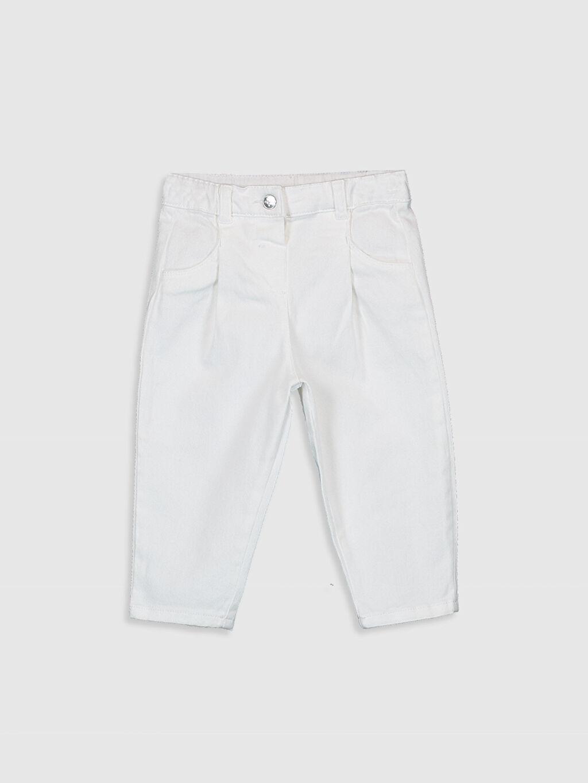 Beyaz Kız Bebek Pantolon 0SU141Z1 LC Waikiki