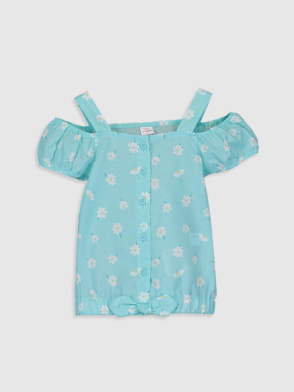 Yeşil Kız Bebek Pamuklu Bluz 0SU524Z1 LC Waikiki