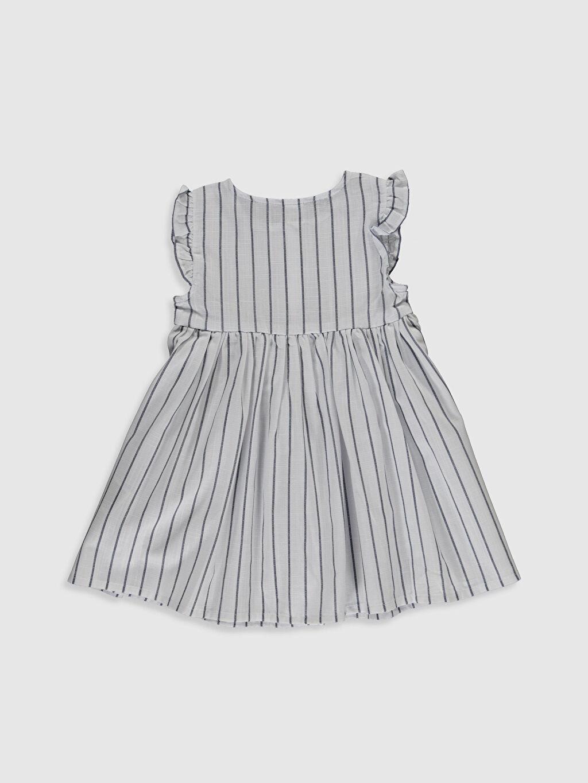 %100 Pamuk Günlük Çizgili Elbise Standart Kız Bebek Çizgili Pamuklu Elbise