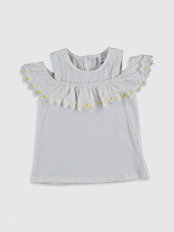 Ekru Kız Bebek Pamuklu Tişört 0SV611Z1 LC Waikiki
